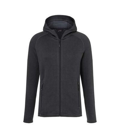 James and Nicholson Mens Stretch Fleece Jacket (Black/Carbon) - UTFU524