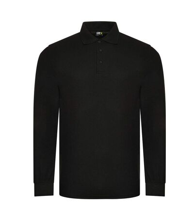 PRO RTX Polo à manches longues Pro Piqué pour hommes (Noir) - UTPC4263