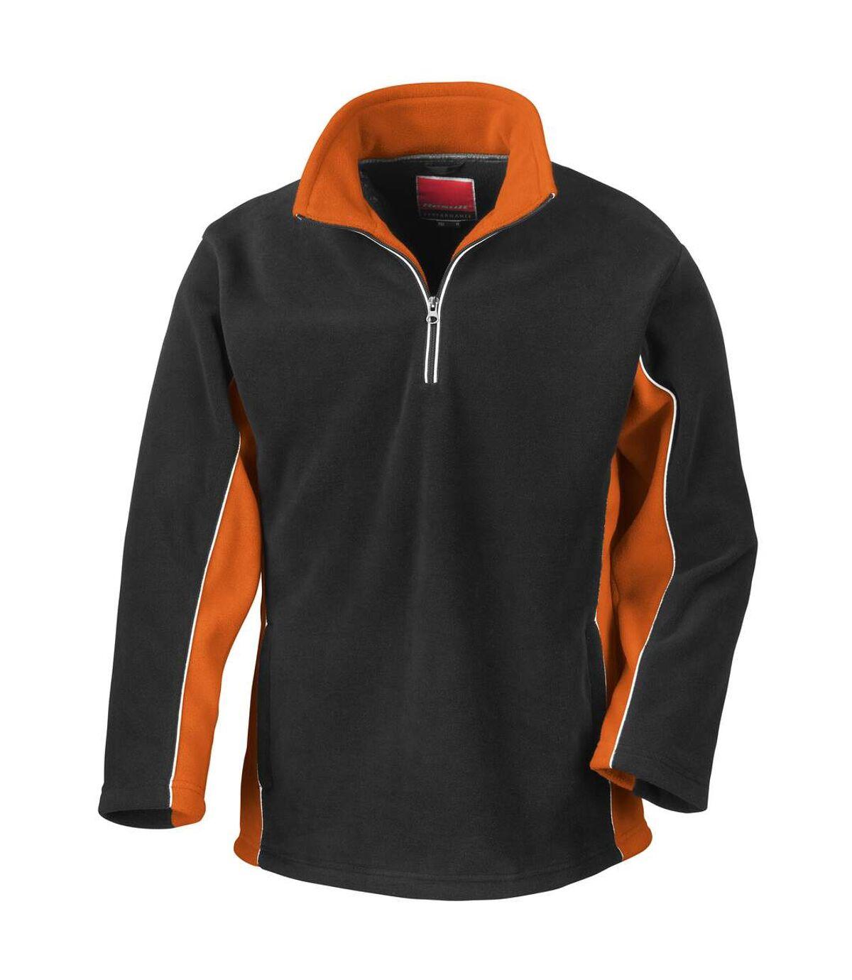 Result Tech3 - Veste polaire coupe-vent respirante - Homme (Noir/Orange) - UTBC935