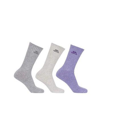 Trespass - Chaussettes montantes STOPFORD - Femme (Gris/gris clair/violet) - UTTP4550