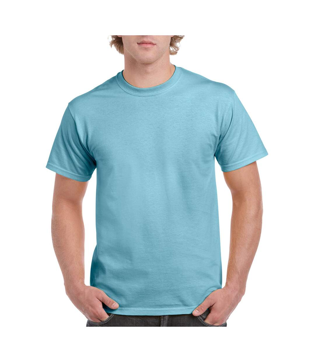 Gildan Mens Ultra Cotton Short Sleeve T-Shirt (White) - UTBC475