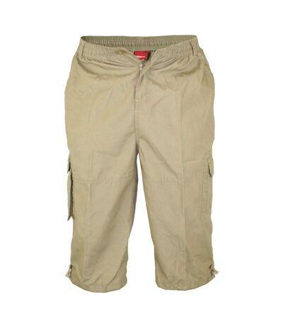 Duke Mens Mason Kingsize Cargo Capri Shorts (Sand) - UTDC250