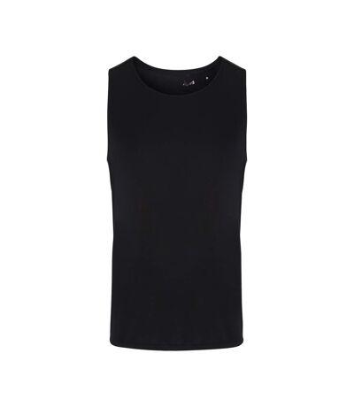 TriDri Mens Performance Contrast Vest (Black/Black Mesh) - UTRW6545
