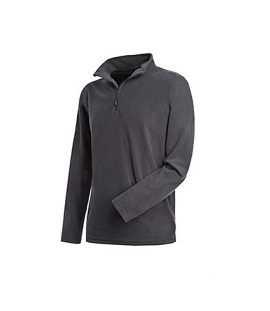 Stedman Mens Active Half Zip Fleece (Grey Steel) - UTAB291