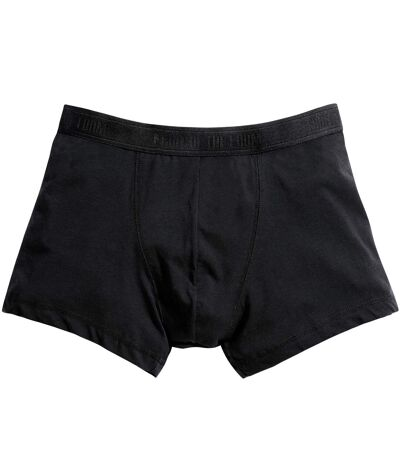 Fruit Of The Loom Mens Classic Shorty Cotton Rich Boxer Shorts (Pack Of 2) (Black) - UTBC3357