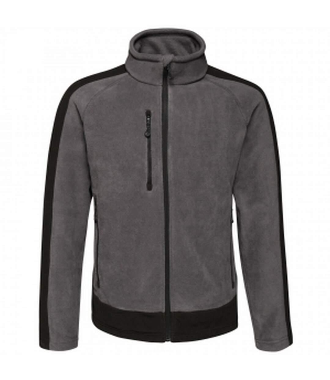Regatta Mens Contrast Fleece Jacket (Seal Grey/Black) - UTRG3568