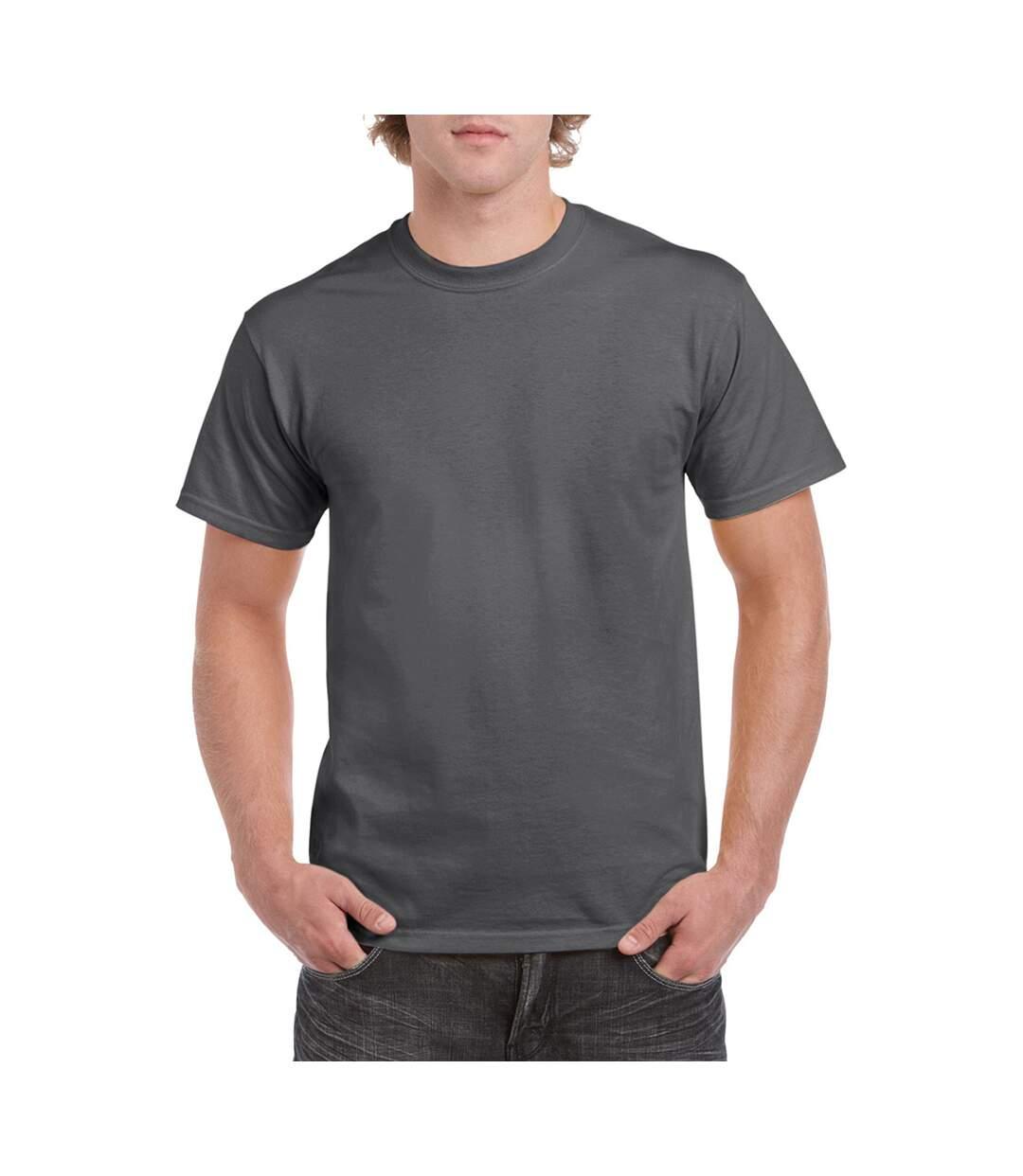 Gildan Mens Heavy Cotton Short Sleeve T-Shirt (Dark Heather) - UTBC481