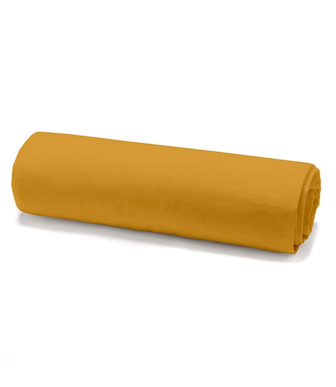 Parure de lit - 100% coton - 220 x 240 cm - Jaune safran
