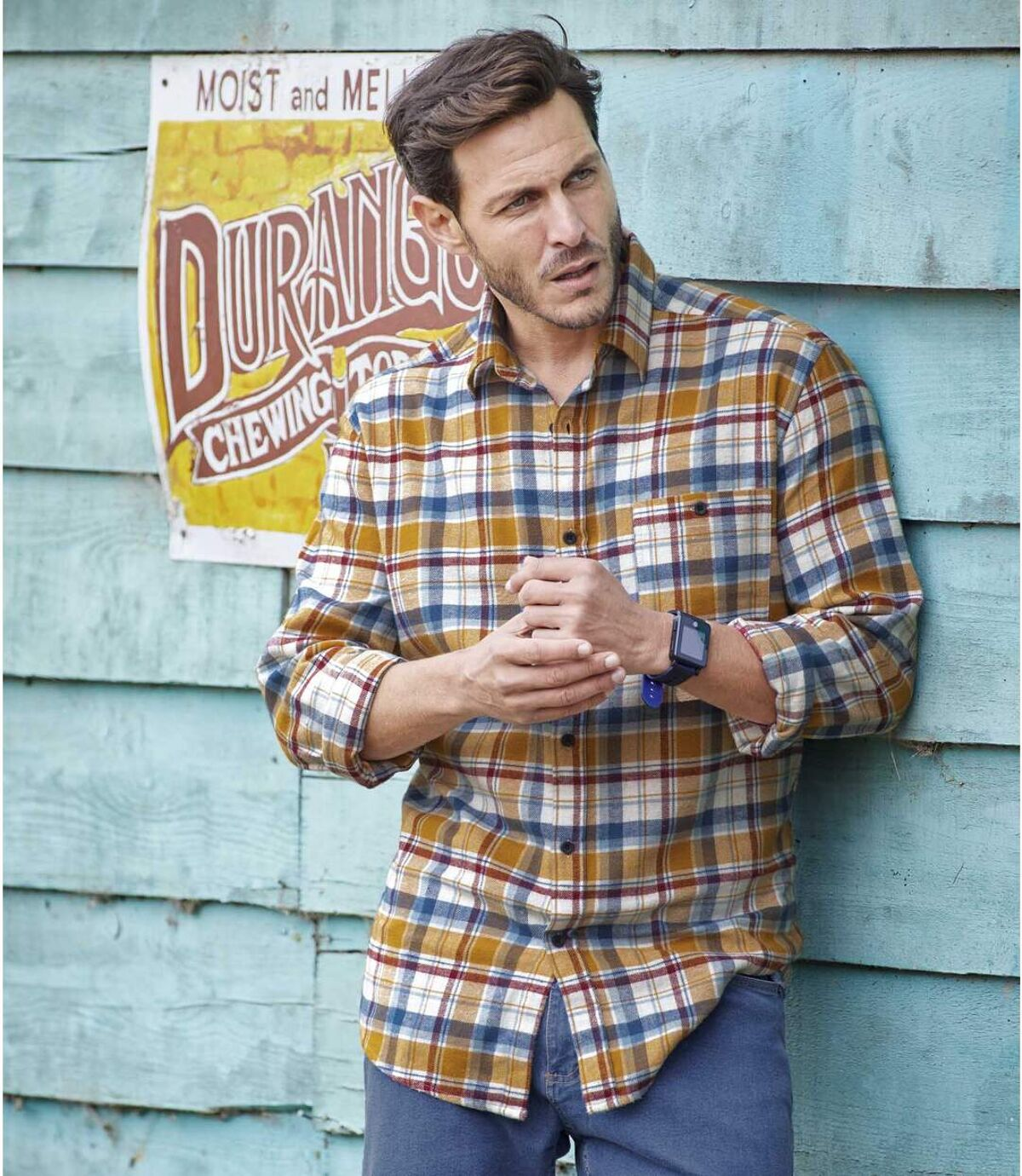 Flanelowa koszula w kratę Missisipi Atlas For Men