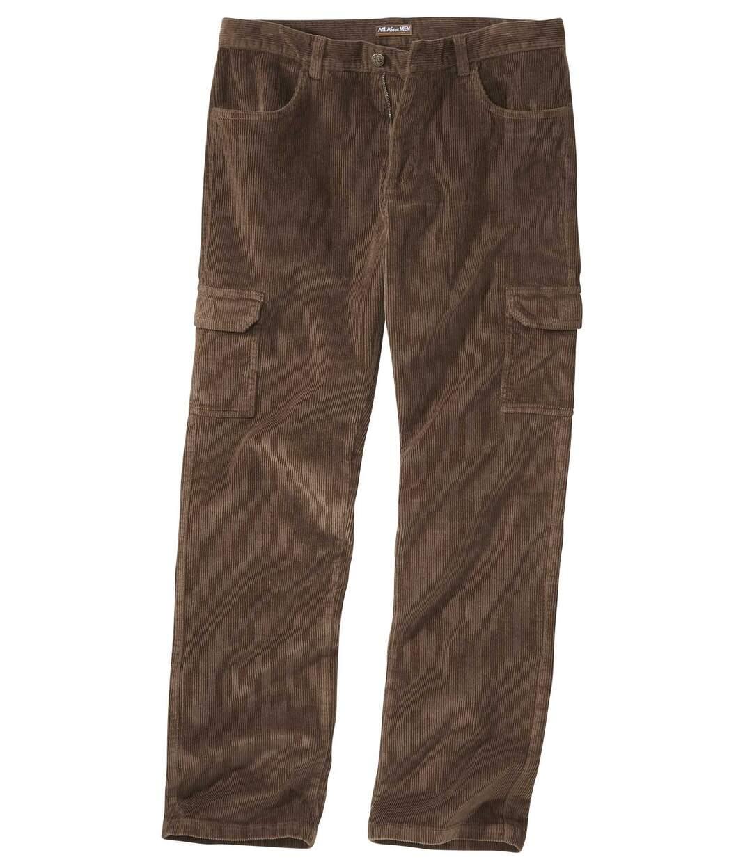 Hnědé manšestrové kalhoty