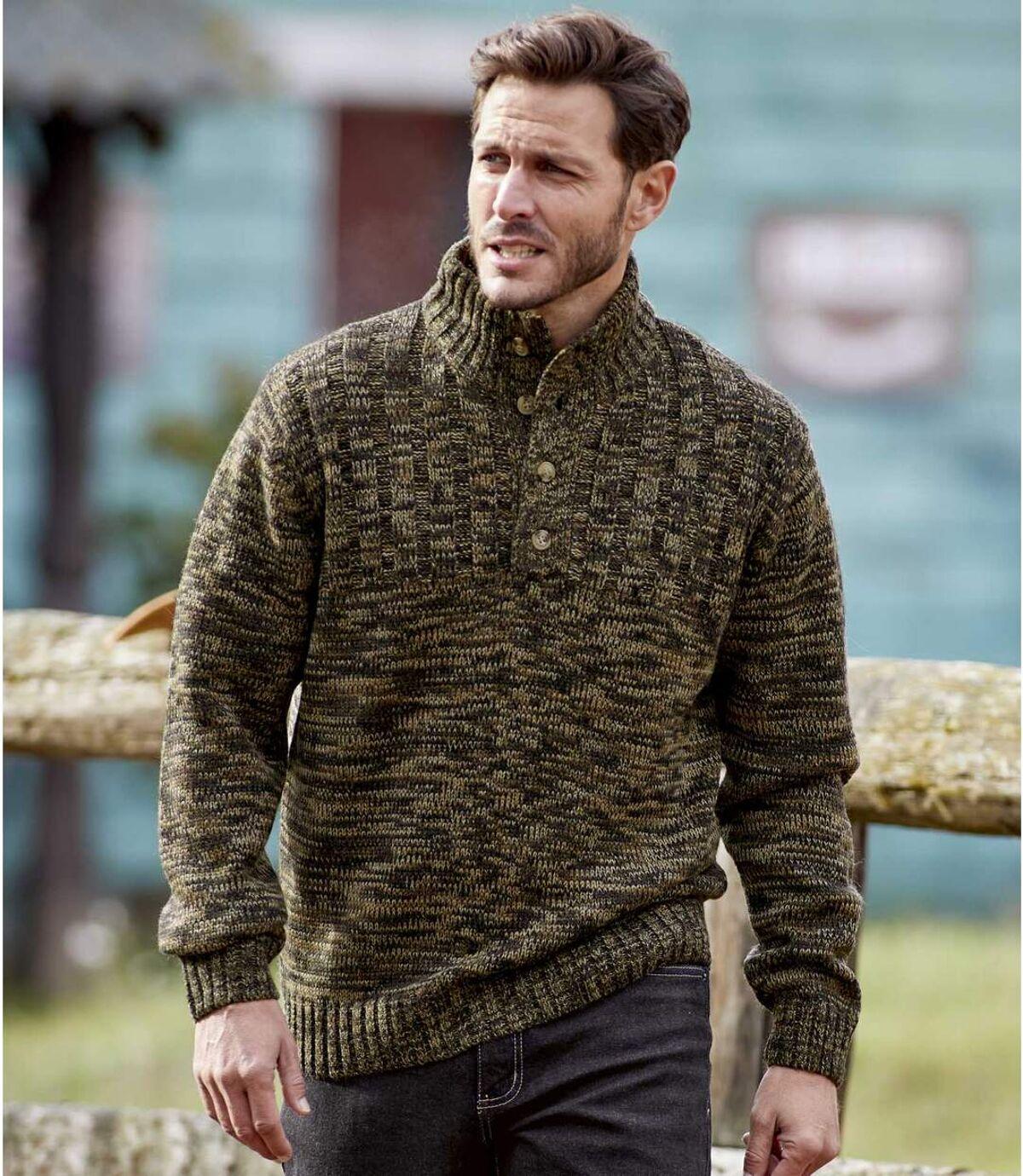 Gebreide trui met knopenkraag Atlas For Men
