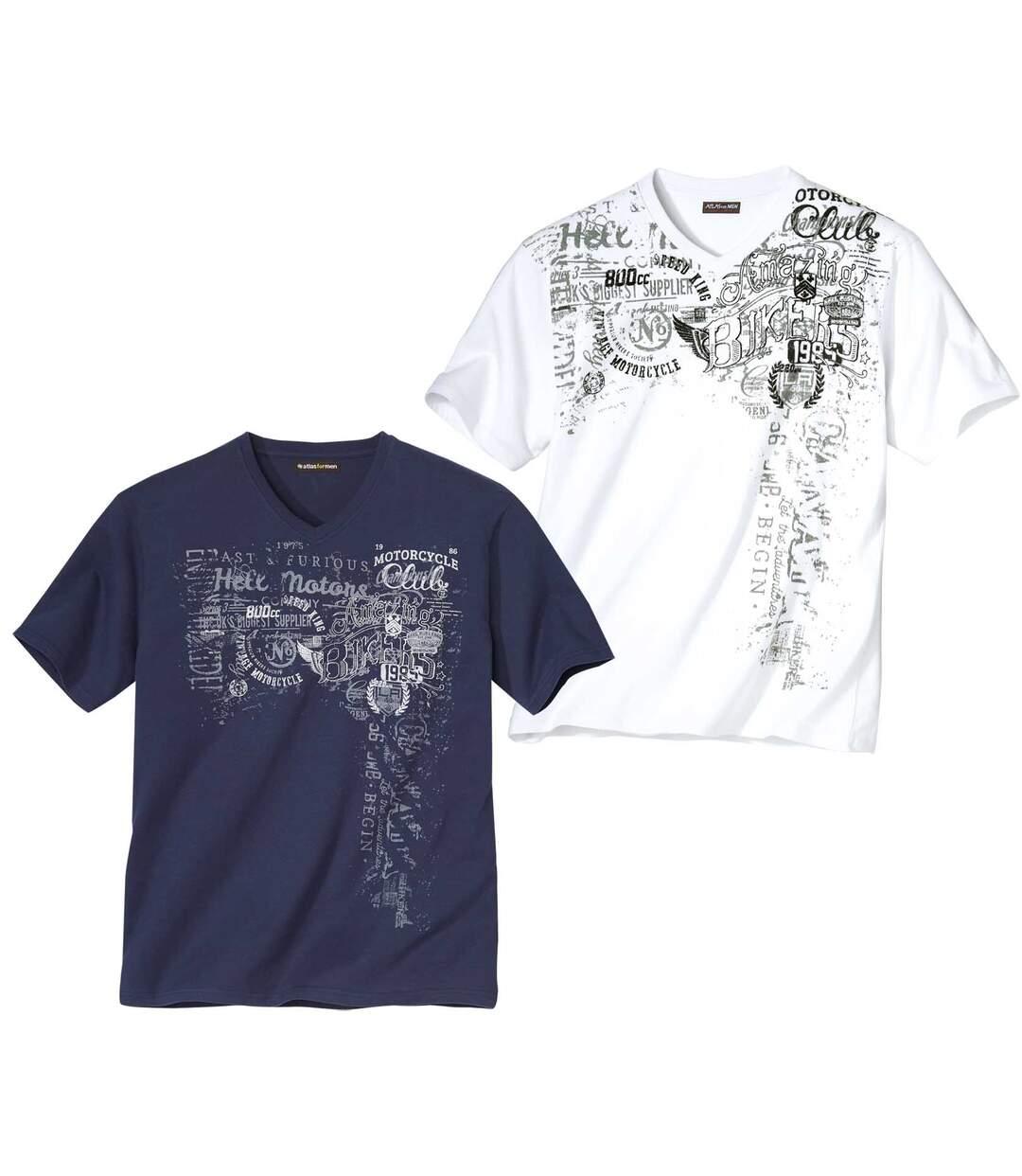 2er-Pack T-Shirts mit Aufdruck