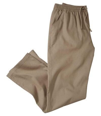 Men's Casual Beige Canvas Pants