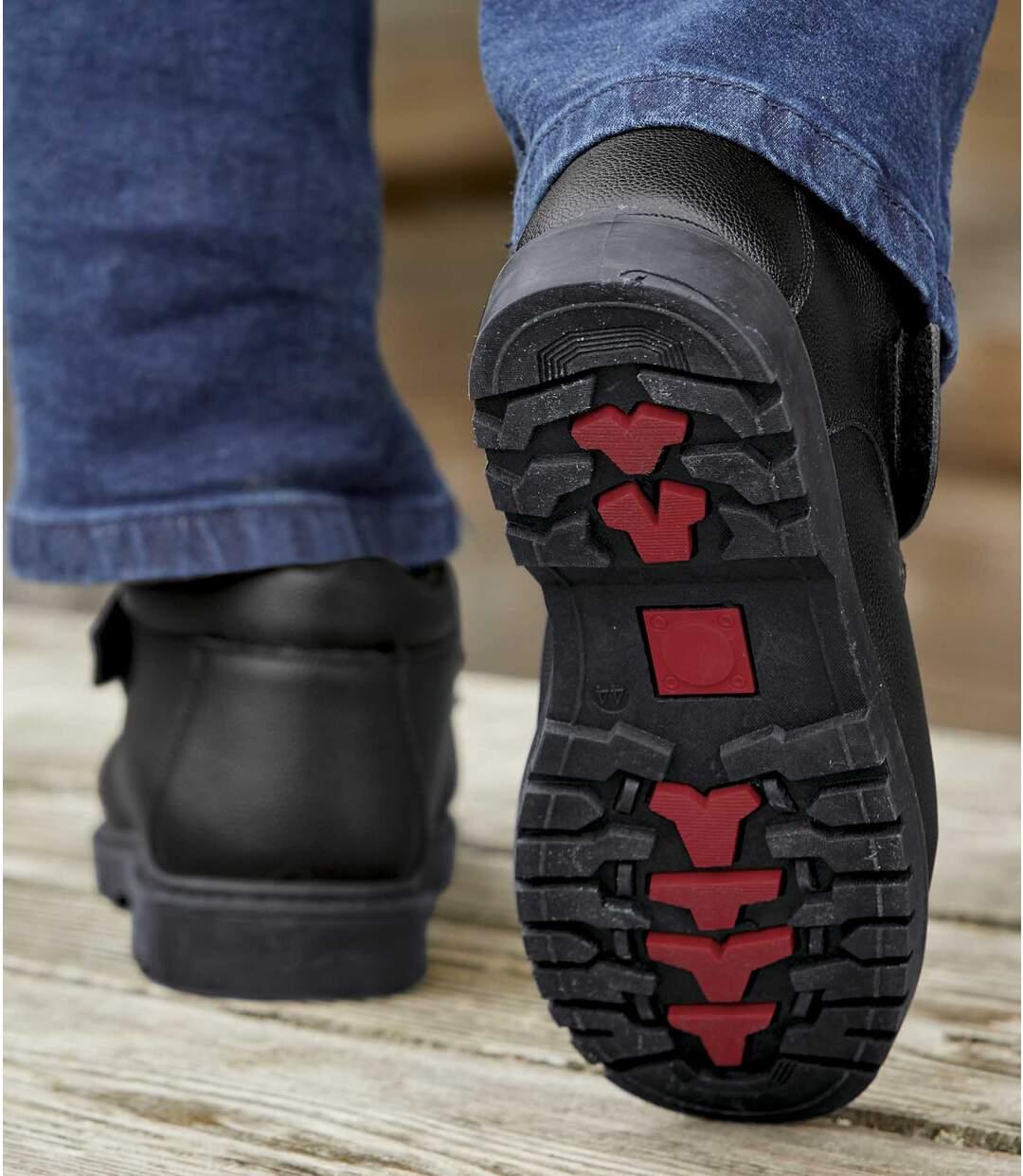 Kožené topánky sremienkom na suchý zips