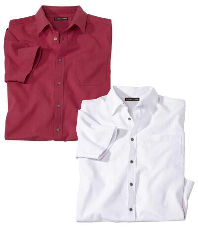 2er-Pack Hemden Auszeit aus Kreppstoff