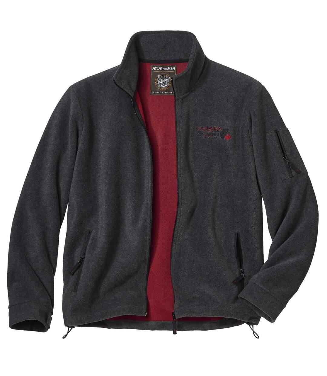 Men's Grey Full Zip Fleece Jacket