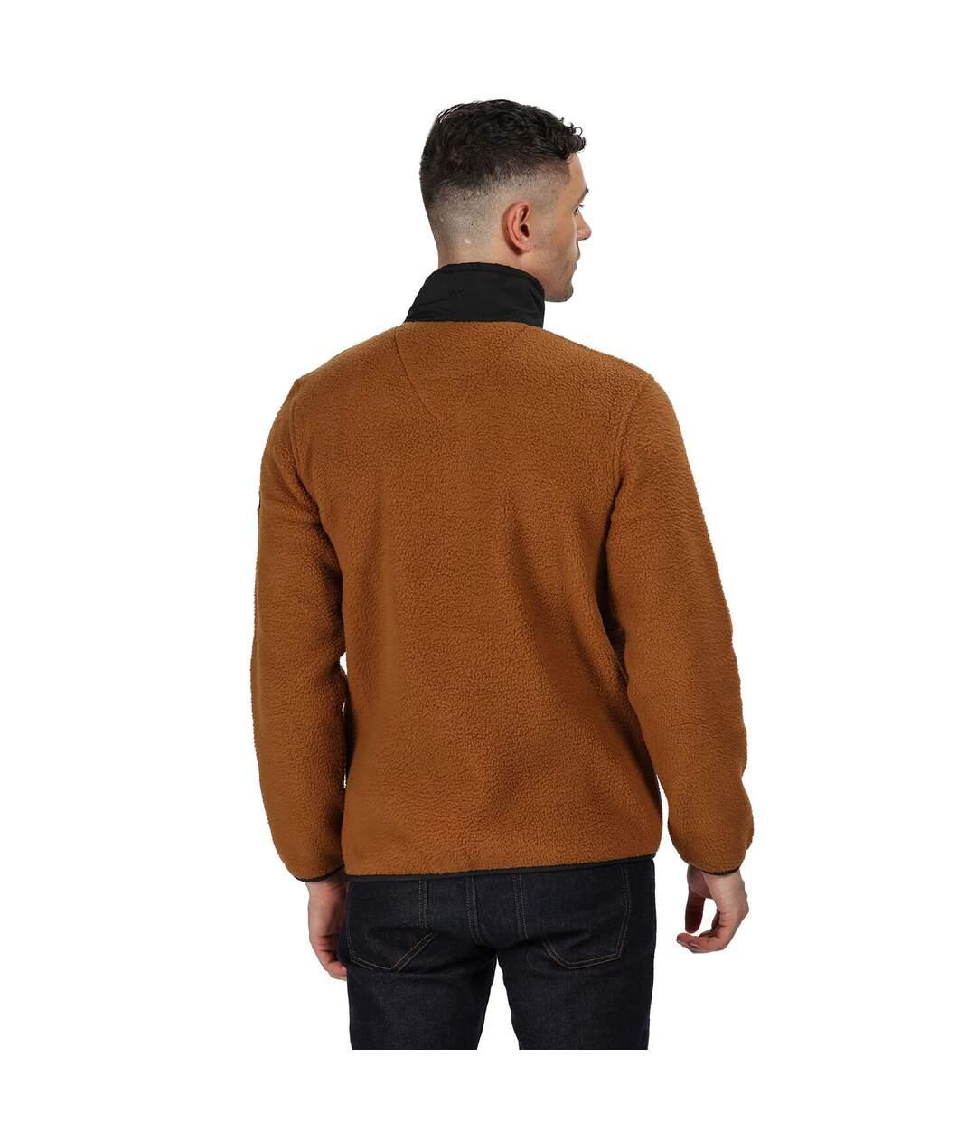 Regatta Mens Cayo Heavyweight Full Zip Fleece Jacket (Brown Tan/Black) - UTRG4599
