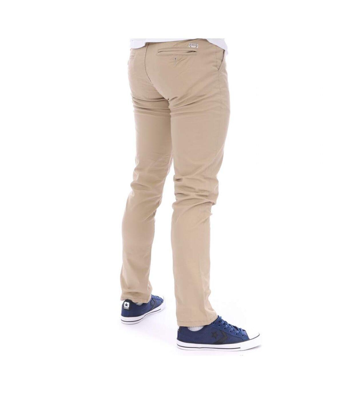 Pantalon Chino Homme beige CHINO AUTHENTIC