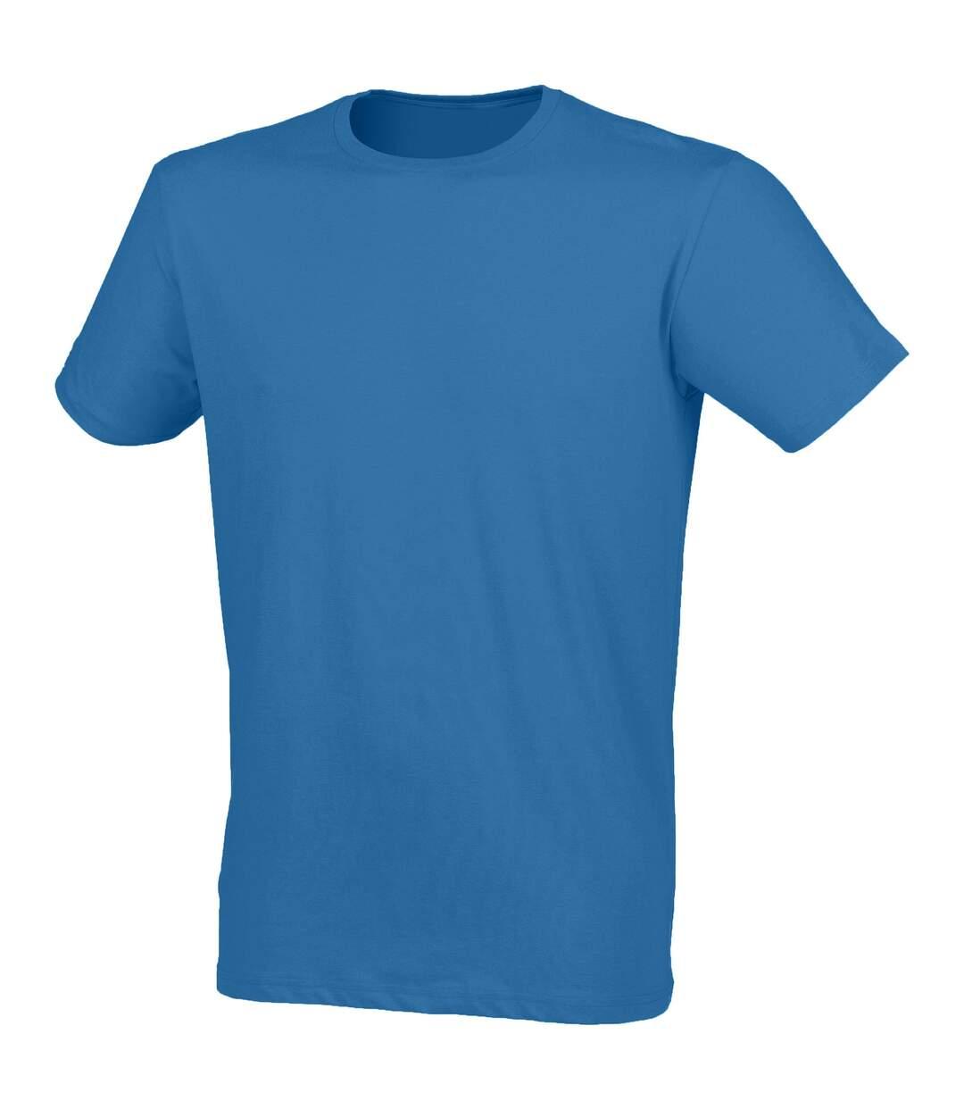 Skinni Fit - T-shirt manches courtes FEEL GOOD - Homme (Bleu) - UTRW4427