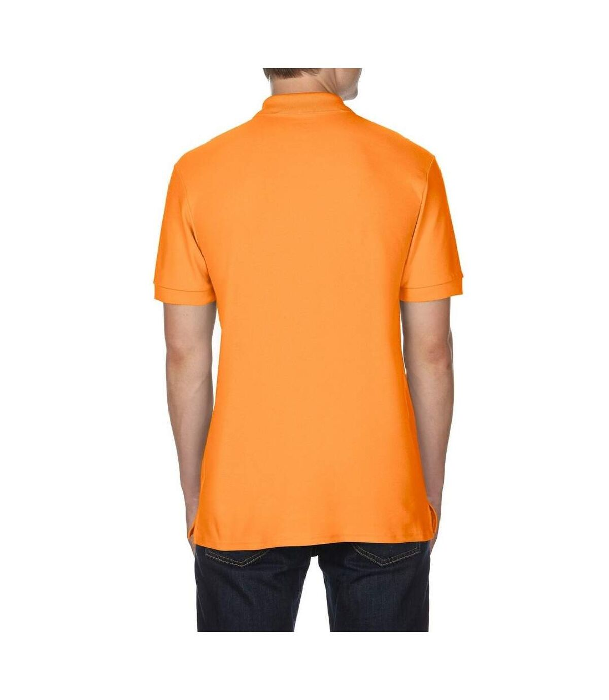 Gildan Mens Premium Cotton Sport Double Pique Polo Shirt (Tangerine) - UTBC3194