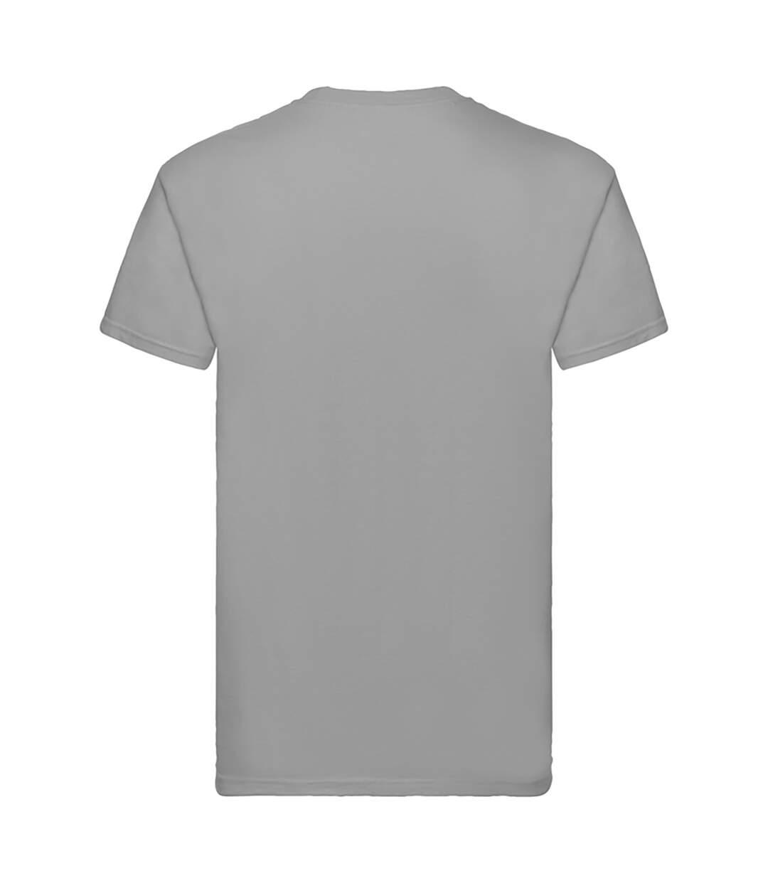 Fruit Of The Loom Mens Super Premium Short Sleeve Crew Neck T-Shirt (Ash Grey) - UTBC333