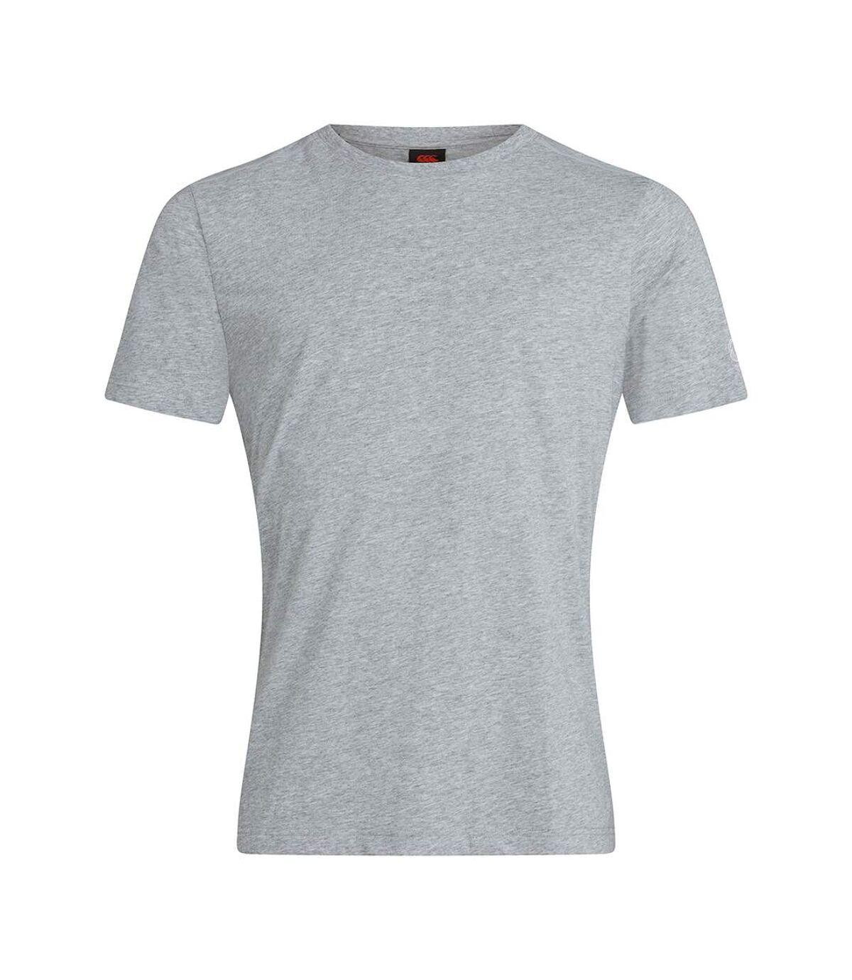 Canterbury Unisex Adult Club Plain T-Shirt (Grey Marl) - UTPC4372