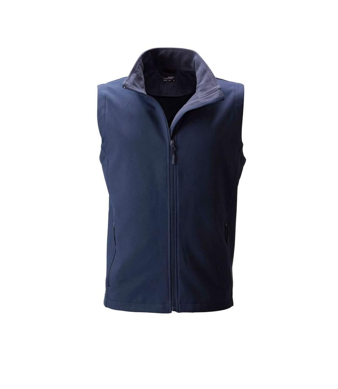 Gilet sans manches micropolaire softshell - JN1128 - bleu marine - Homme