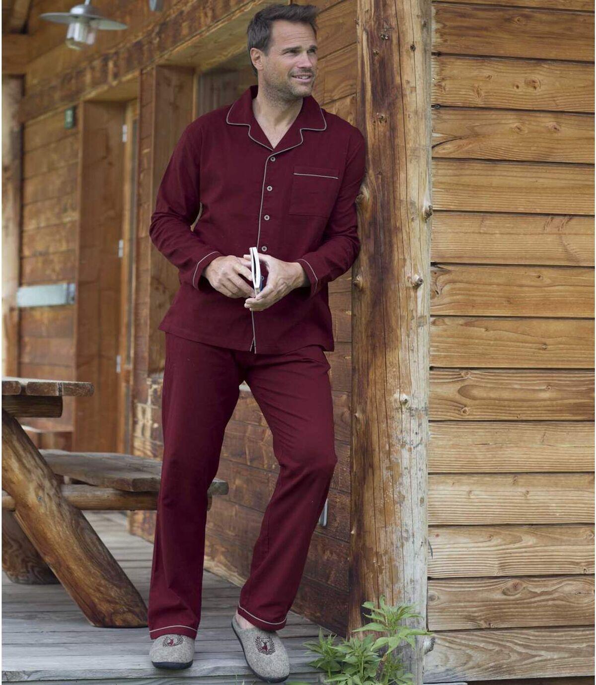 Traditionele pyjama van flanel Atlas For Men