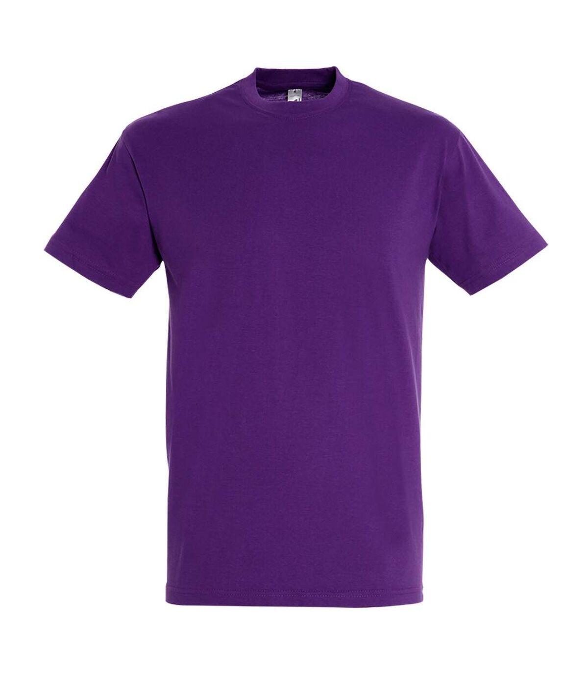 SOLS Mens Regent Short Sleeve T-Shirt (Dark Purple) - UTPC288