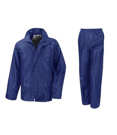 Result Core - Ensemble veste et pantalon imperméables coupe-vent - Homme (Bleu royal) (2XL) - UTBC916