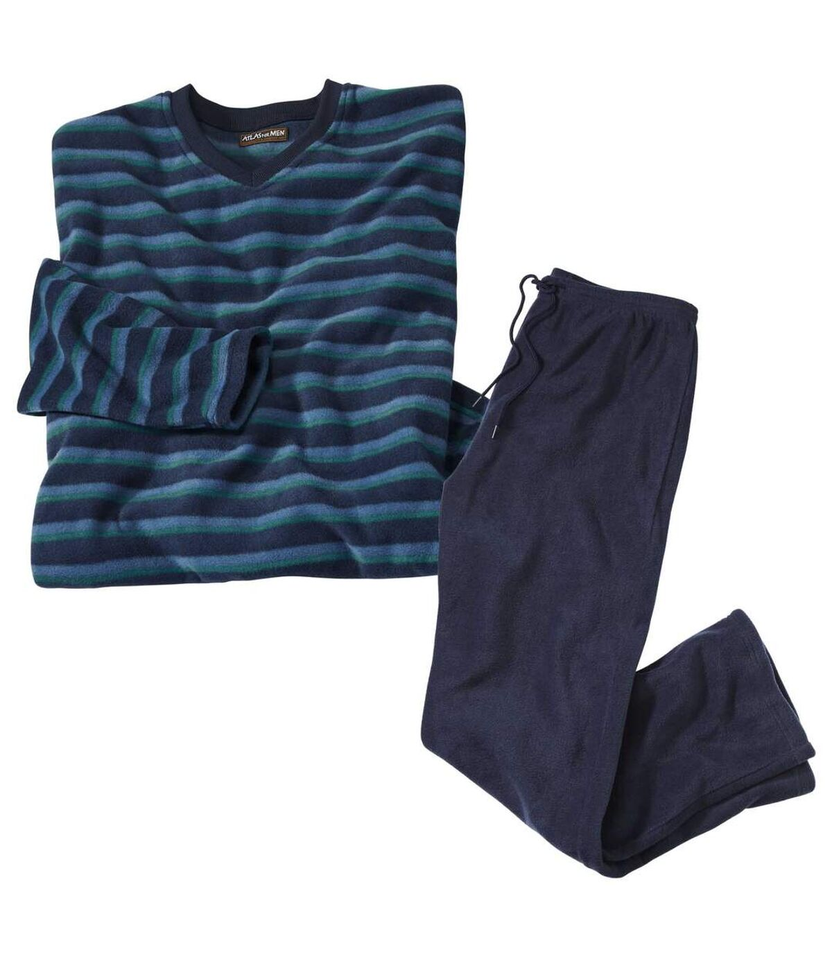 Gestreepte microfleece pyjama Atlas For Men