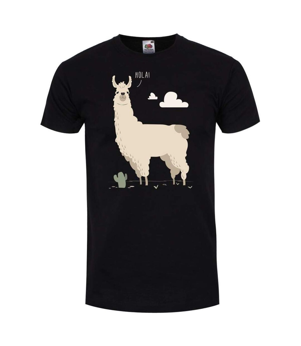 Grindstore T-Shirt Mens Hola ! Llama (Noir) - UTGR1862