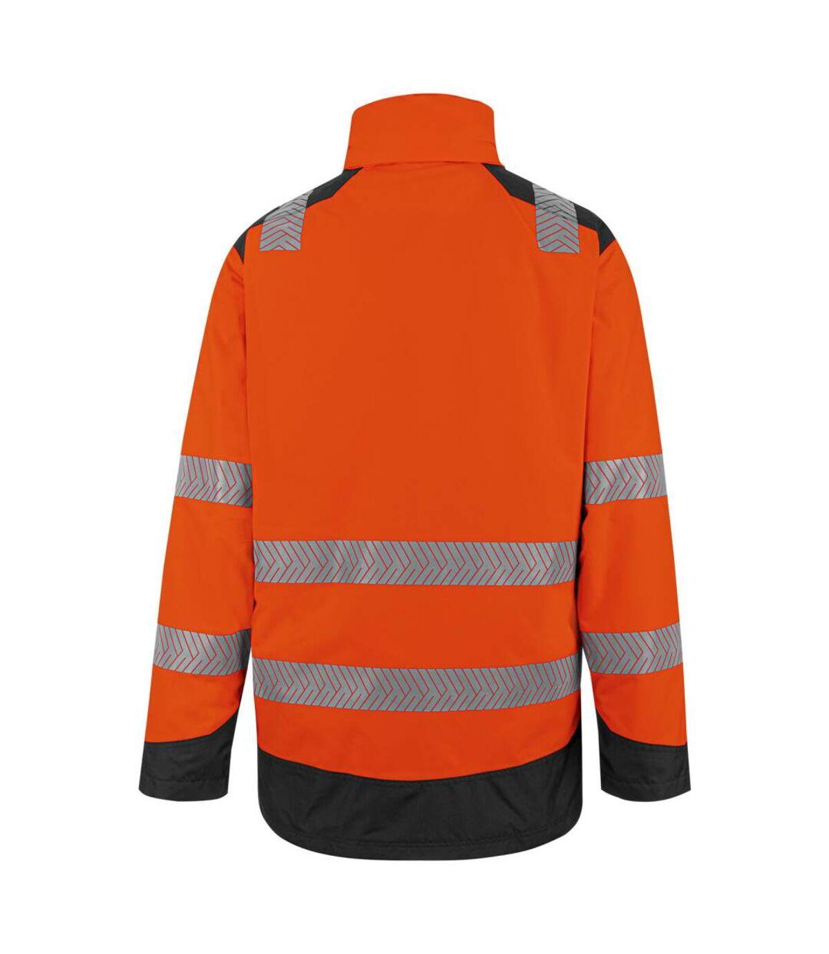 Parka de travail haute-visibilité orange fluo 3 en 1 Würth MODYF