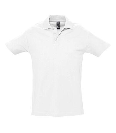 SOLS Mens Spring II Short Sleeve Heavyweight Polo Shirt (White) - UTPC320