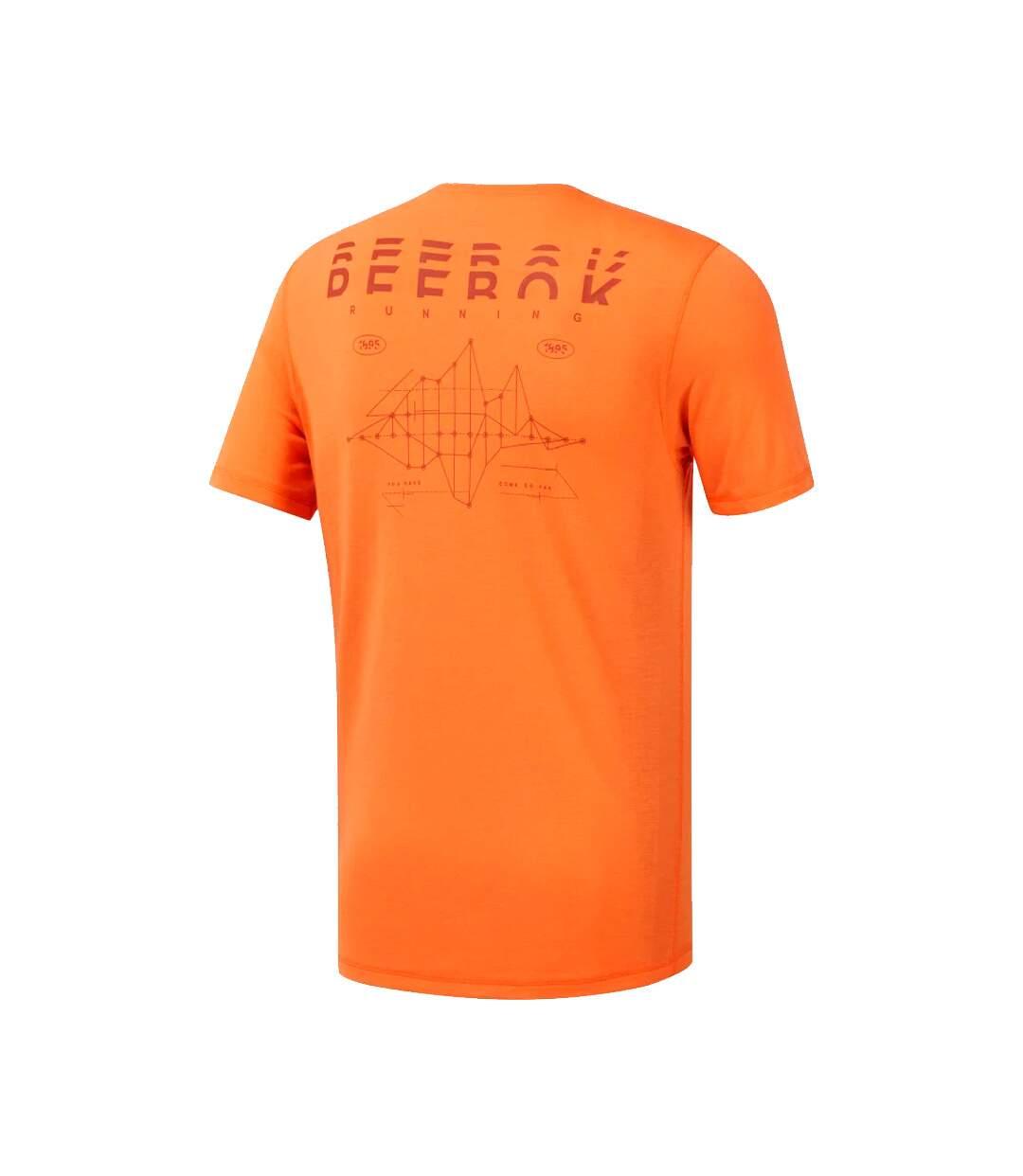 T-Shirt orange homme Reebok RE SS CF TEE