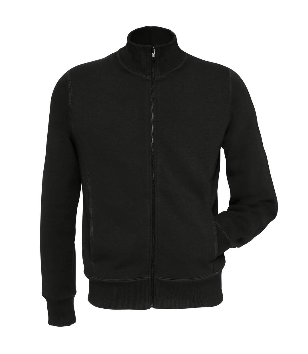 B&C Mens Spider Full Zipped Fleece Top (Black) - UTRW3027