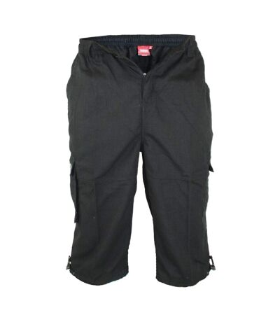 Duke Mens Mason Kingsize Cargo Capri Shorts (Black) - UTDC250