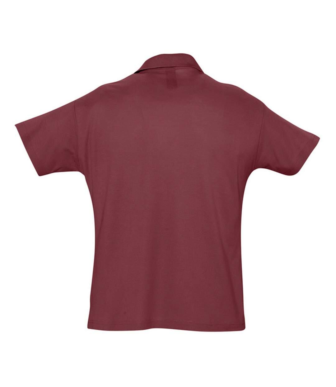 SOLS Mens Summer II Pique Short Sleeve Polo Shirt (Navy) - UTPC318