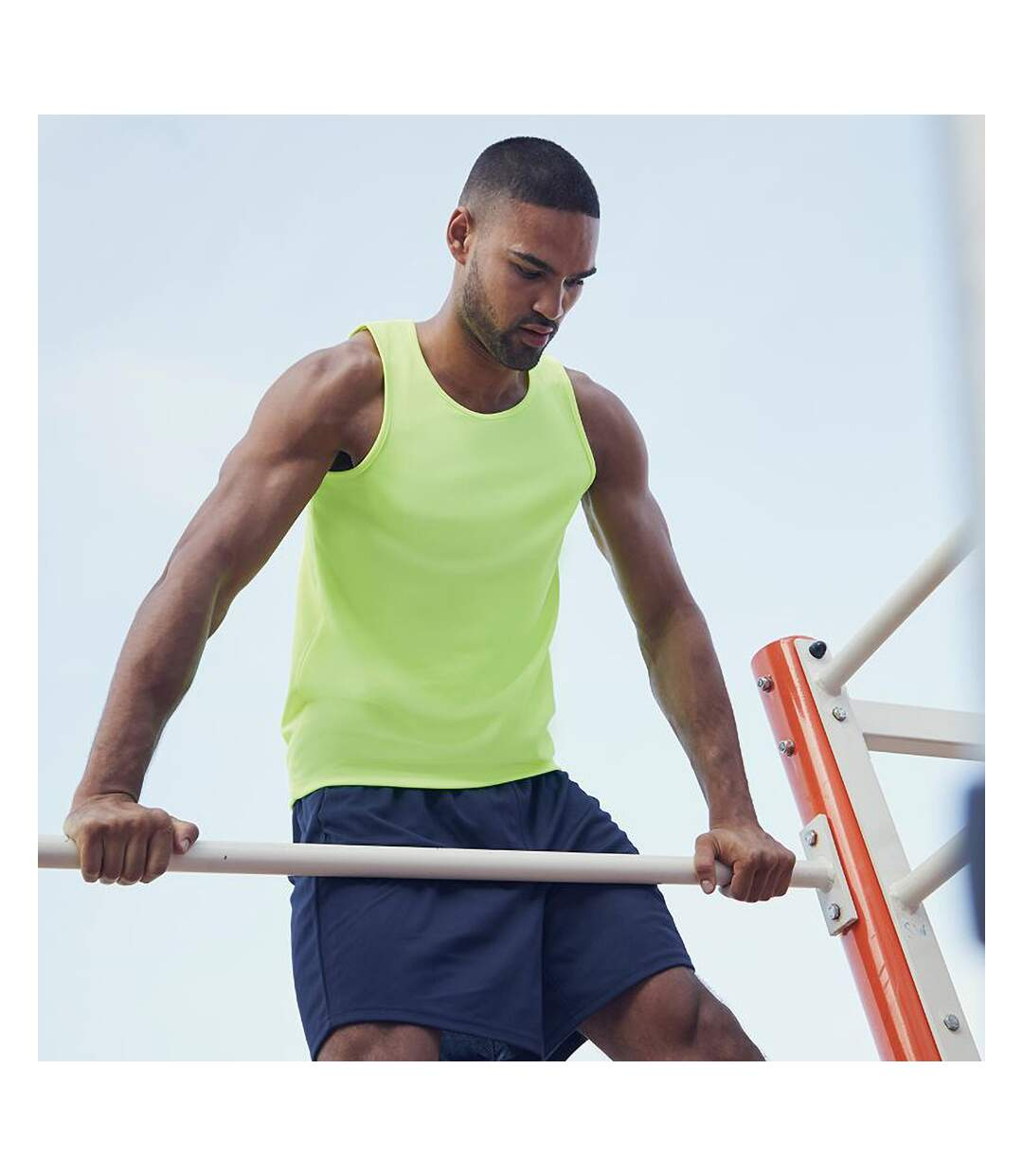 Fruit Of The Loom Mens Moisture Wicking Performance Vest Top (Lime) - UTRW4705