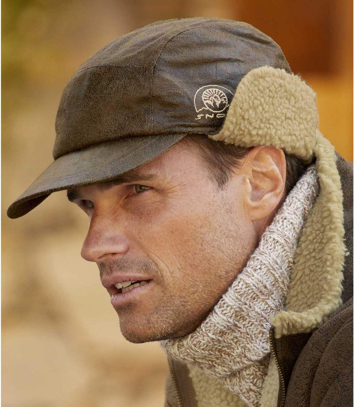 Sherpa bélésű fülvédős sapka Atlas For Men