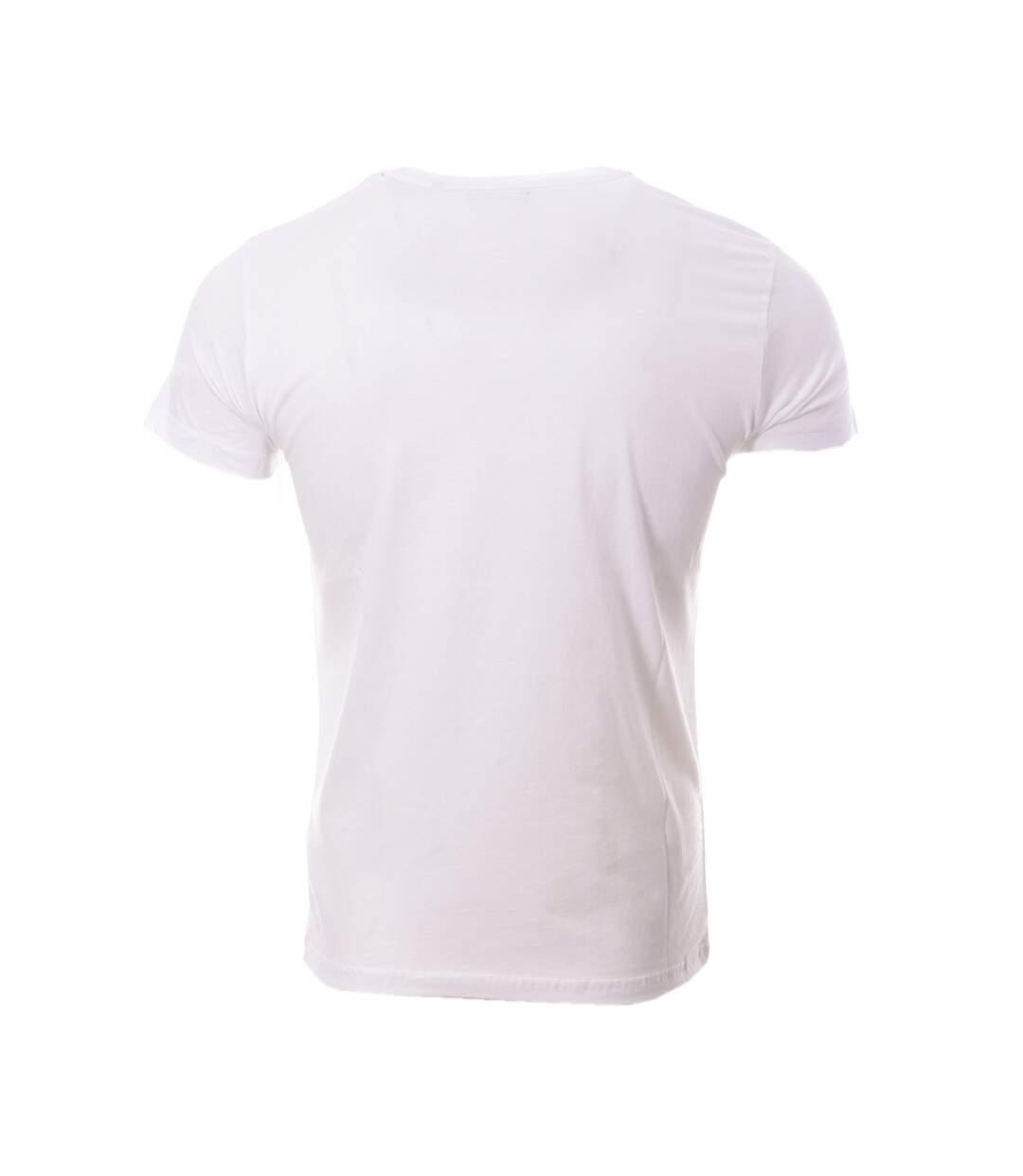 T-shirt Blanc Homme Schott Bobby