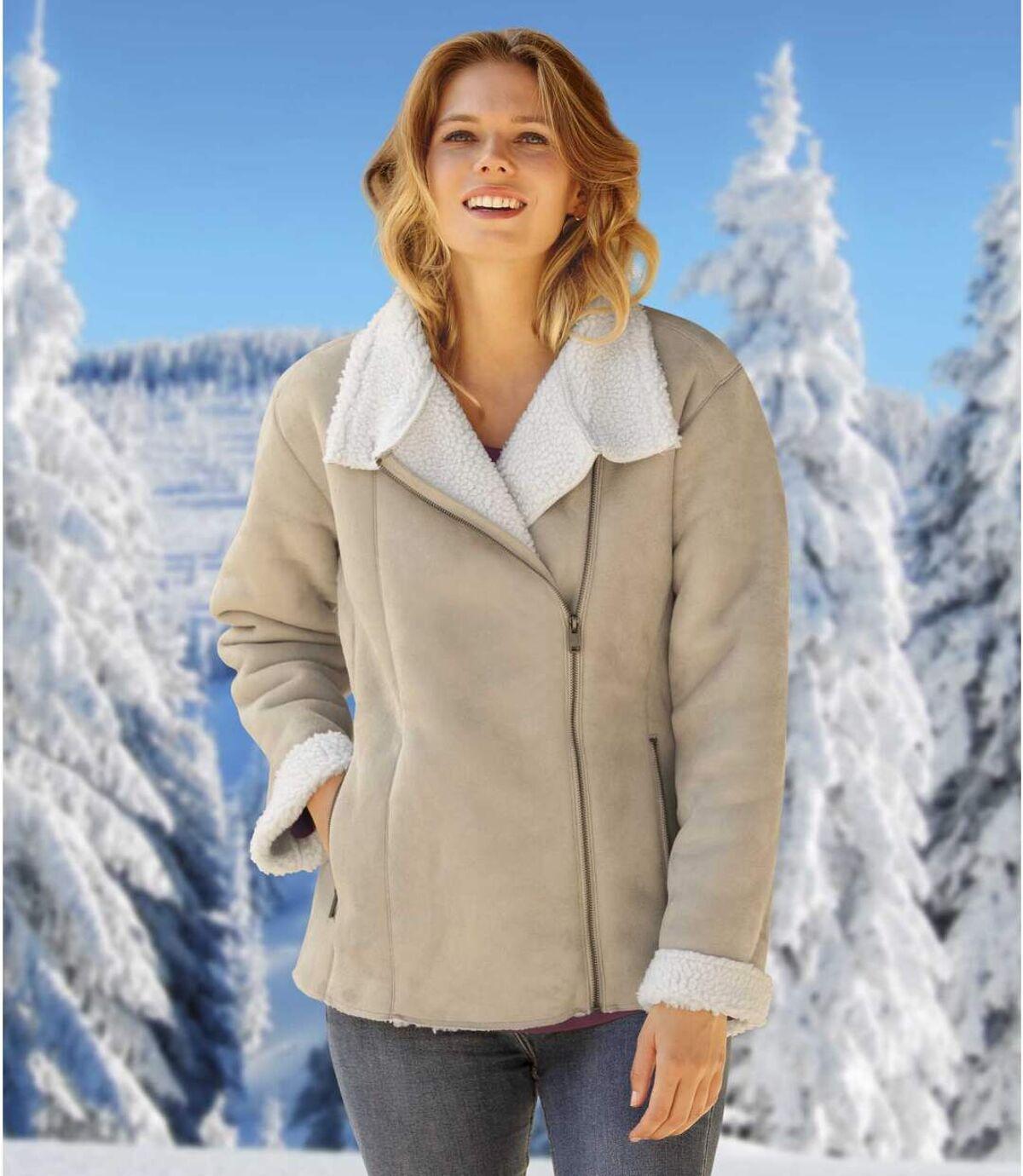 Veste Style Perfecto Suédine et Sherpa  Atlas For Men