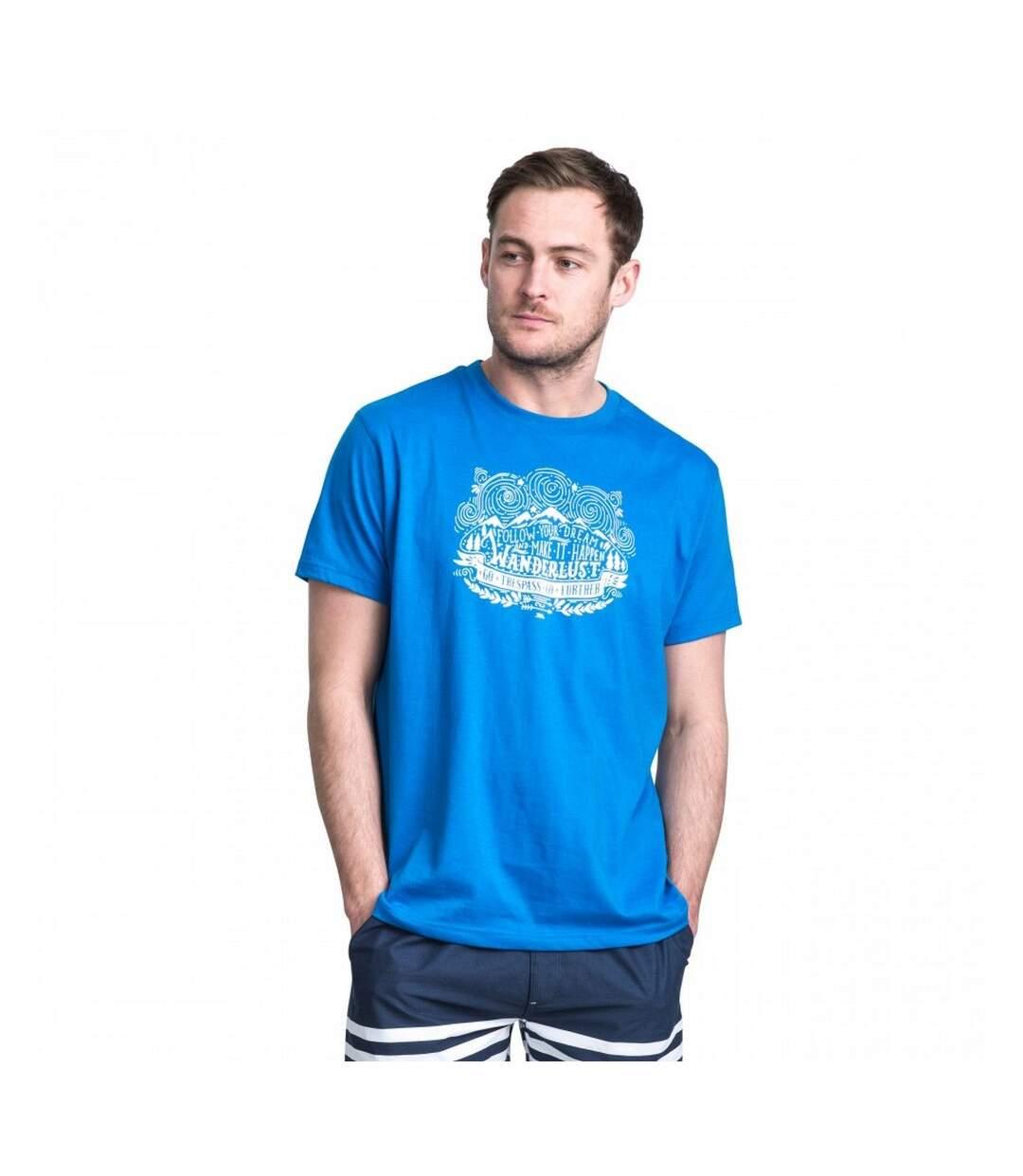 Trespass Mens Hainey Short Sleeve T-Shirt (Bright Blue) - UTTP3362
