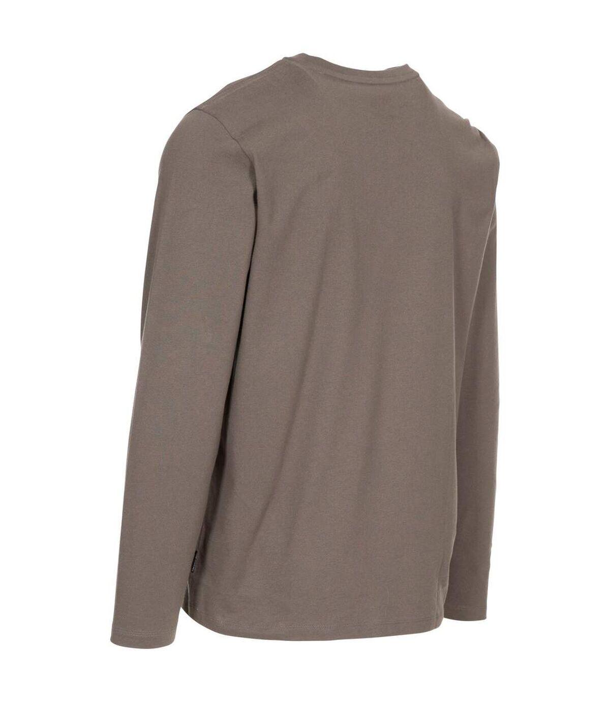Trespass Mens Wrenburyton Long-Sleeved T-Shirt (Khaki) - UTTP5243