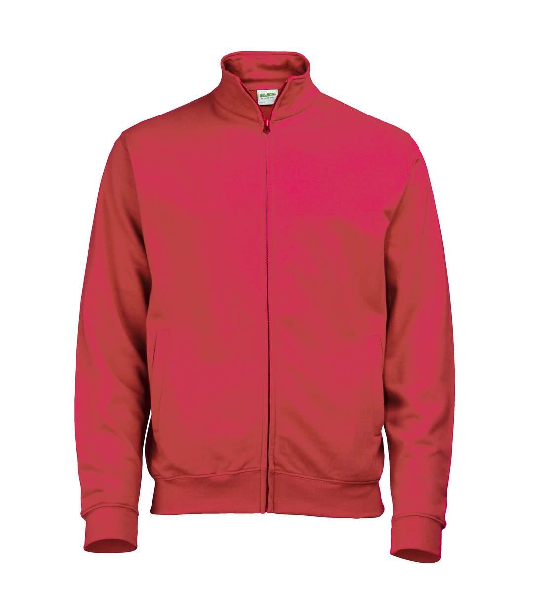 Awdis Mens Plain Fresher Full Zip Sweat / Sweatshirt / Outerwear (Heather Grey) - UTRW178