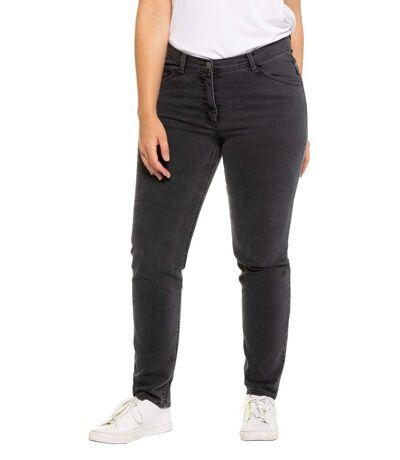 ULLA POPKEN Jeans denim stretch 5-pocket straight cut dark denim NEW