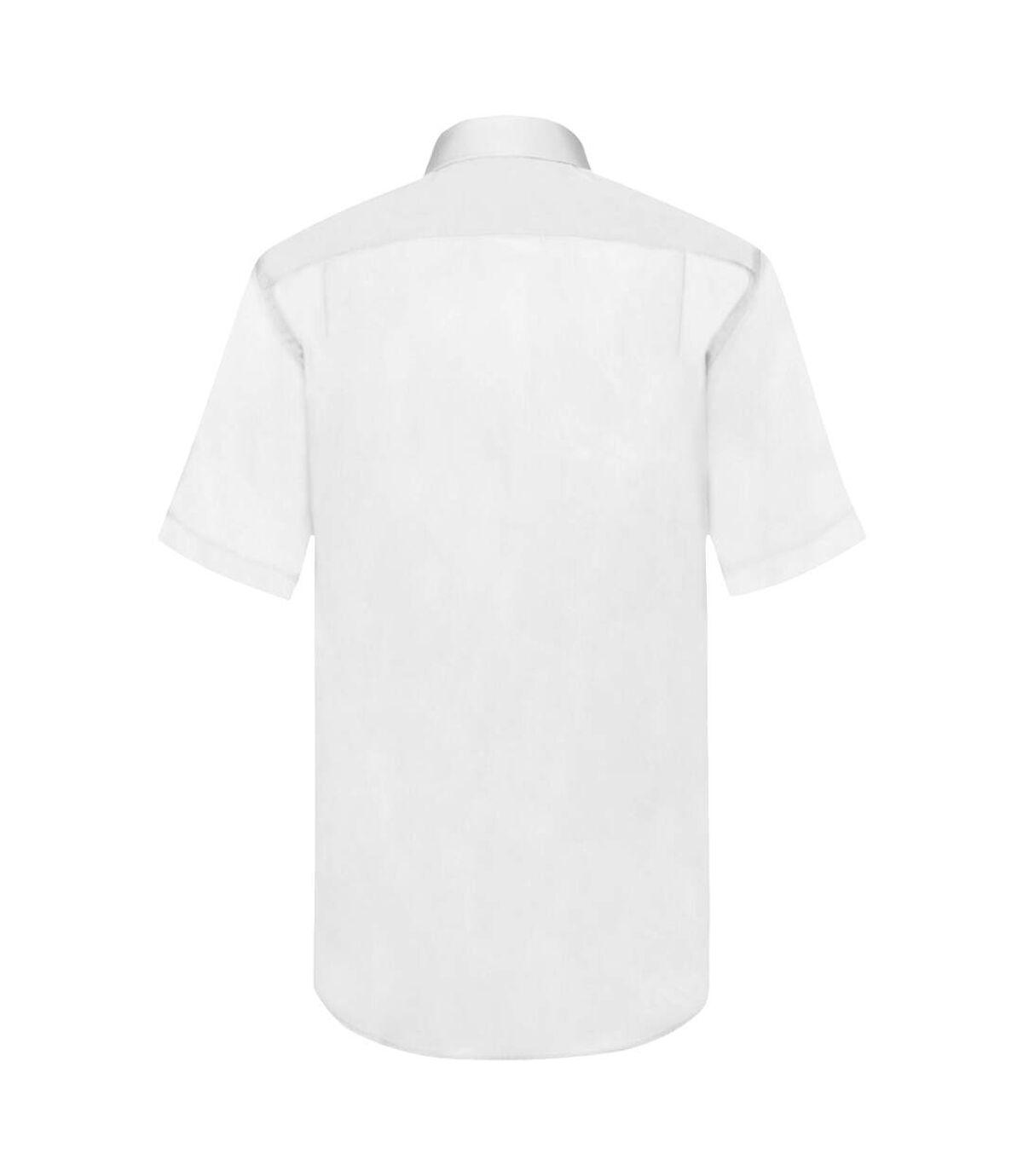 Fruit Of The Loom Mens Short Sleeve Poplin Shirt (White) - UTBC404