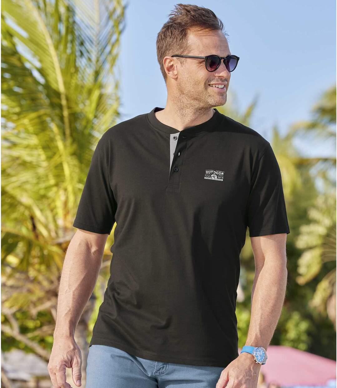 3er-Pack Henley-Shirts Outdoor