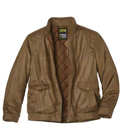 Стеганая Куртка из Искусственной Замши