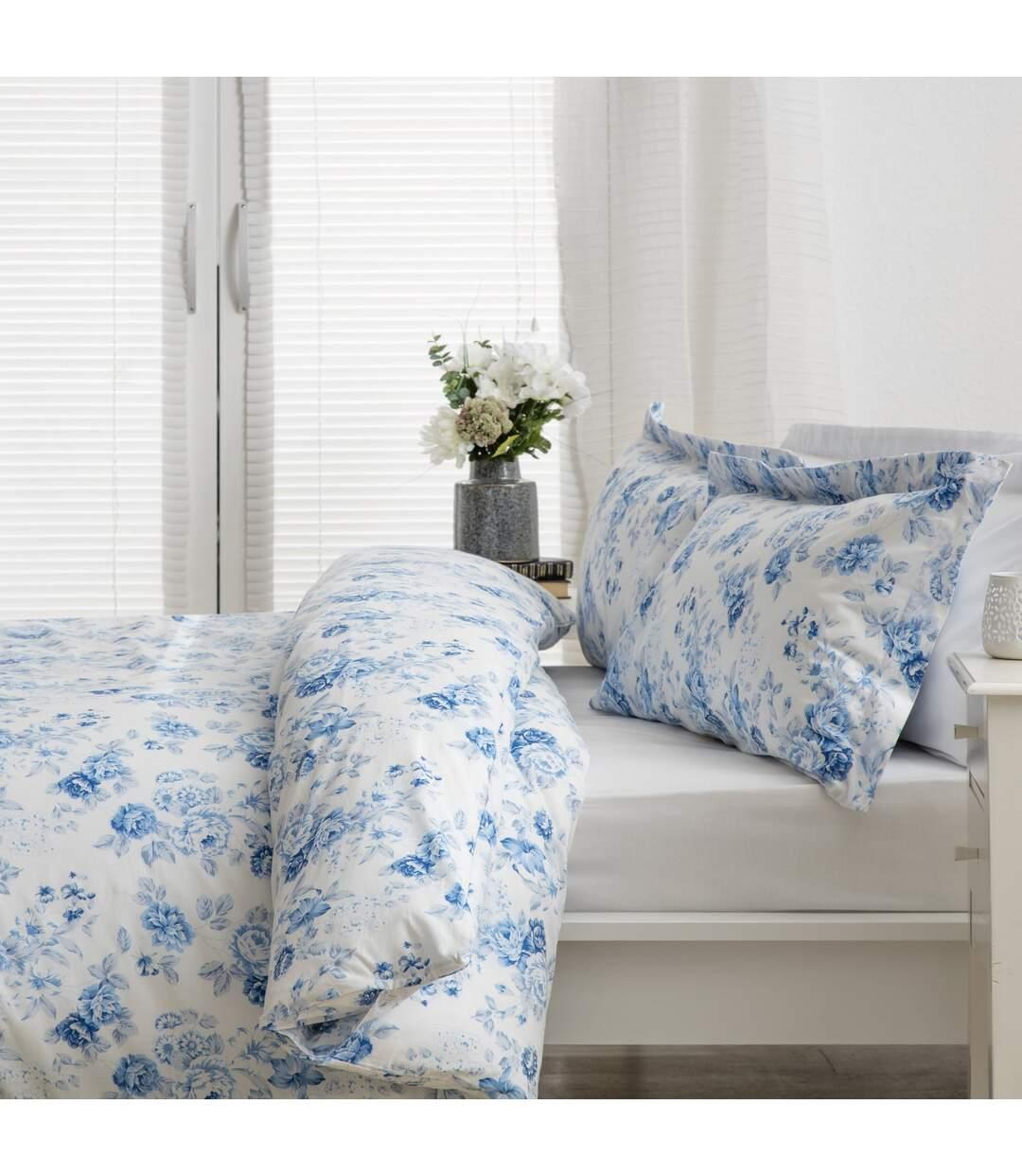 Belledorm - Housse De Couette Grace (Blanc / bleu) - UTBM252